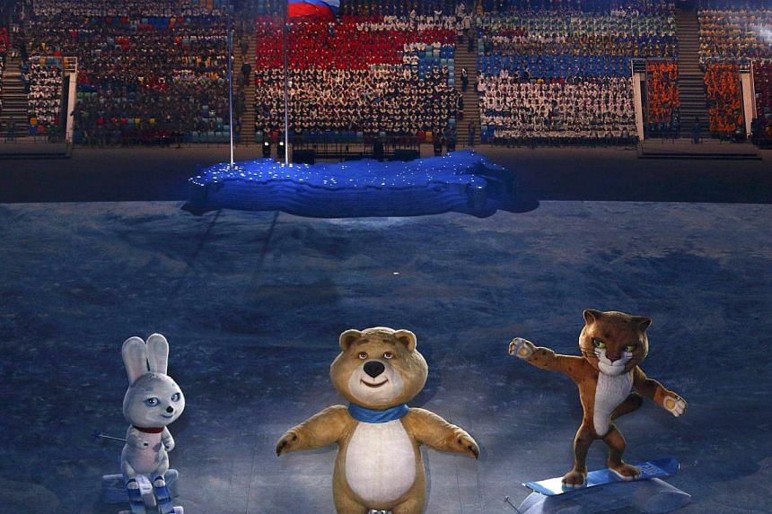 Performers take part in the opening ceremony for the Sochi 2014 Winter Olympics on Feb 7, 2014. -- PHOTO: REUTERS