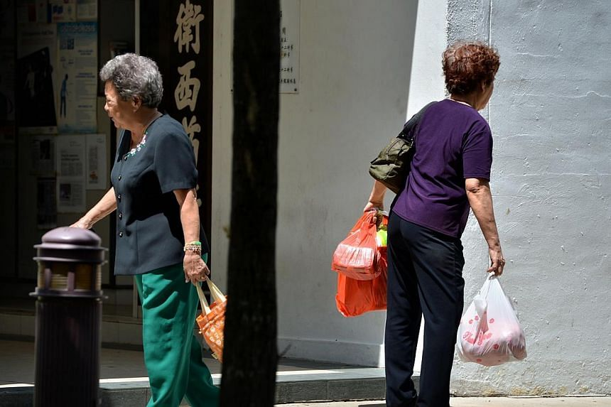 The People's Action Party's Women's Wing is calling for change to housing, healthcare and employment policies so as to strengthen support to seniors. -- ST FILE PHOTO:KUA CHEE SIONG