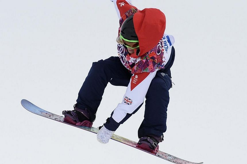 Britain'sVeteran Jenny Jonescompetes in the Women's Snowboard Slopestyle Final at the Rosa Khutor Extreme Park during the Sochi Winter Olympics on Feb 9, 2014.Jones made history on Sunday as she won Britain's first-ever Winter Olymp