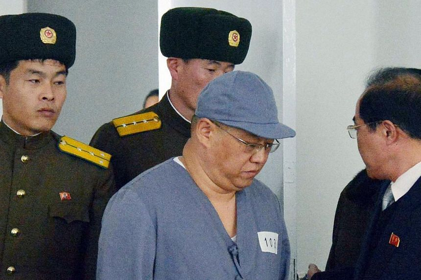Kenneth Bae, a Korean-American Christian missionary who has been detained in North Korea for more than a year, appears before a limited number of media outlets in Pyongyang on Jan 20, 2014. North Korea has rescinded an invitation for a senior US offi