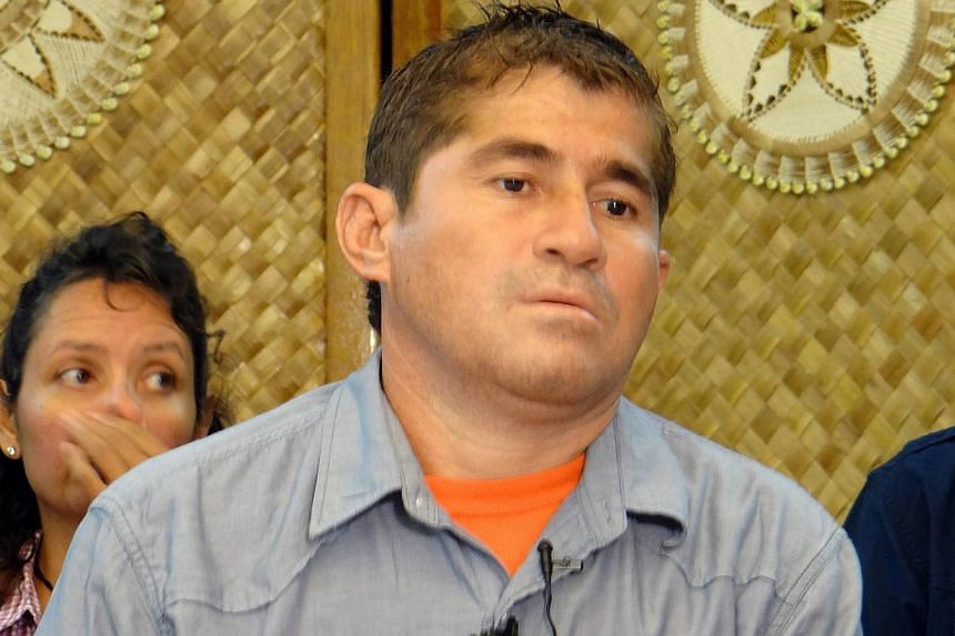 Pacific castaway Jose Salvador Alvarenga departed the Marshall Islands on a Honolulu-bound flight on Monday, Feb 10, 2014, to begin his journey home to El Salvador, an AFP reporter at the scene said. -- FILE PHOTO: AFP