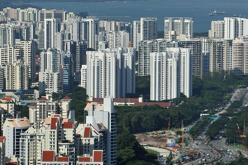 High-rise private housing apartments on the coast line of the East Coast of Singapore. The resale prices of completed non-landed private homes in Singapore rose last month for the second consecutive month, even as the number of transactions continued