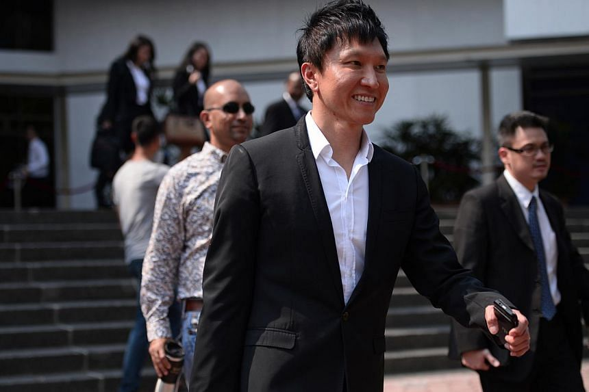 City Harvest Church founder Kong Hee leaves the Subordinate Courts on Feb 10, 2014. Prosecutors on Monday closed their case in the high-profile City Harvest Church trial, which has run for nine months and involved 14 witnesses so far. -- ST PHOTO:&nb