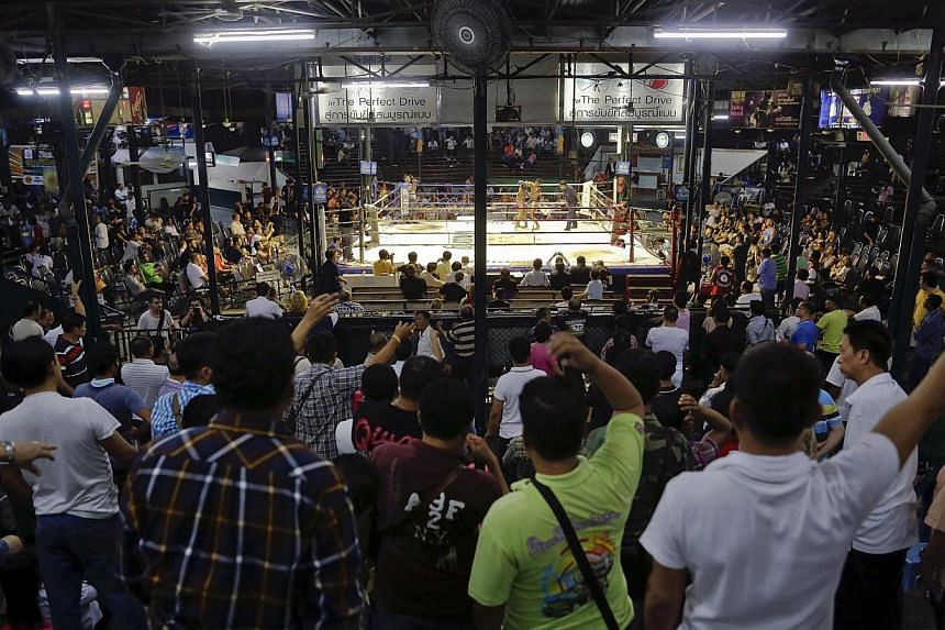 Spectators at the final event at the legendary Lumpinee stadium, one of Bangkok's oldest boxing venues on Feb 7, 2014. -- FILE PHOTO: REUTERS