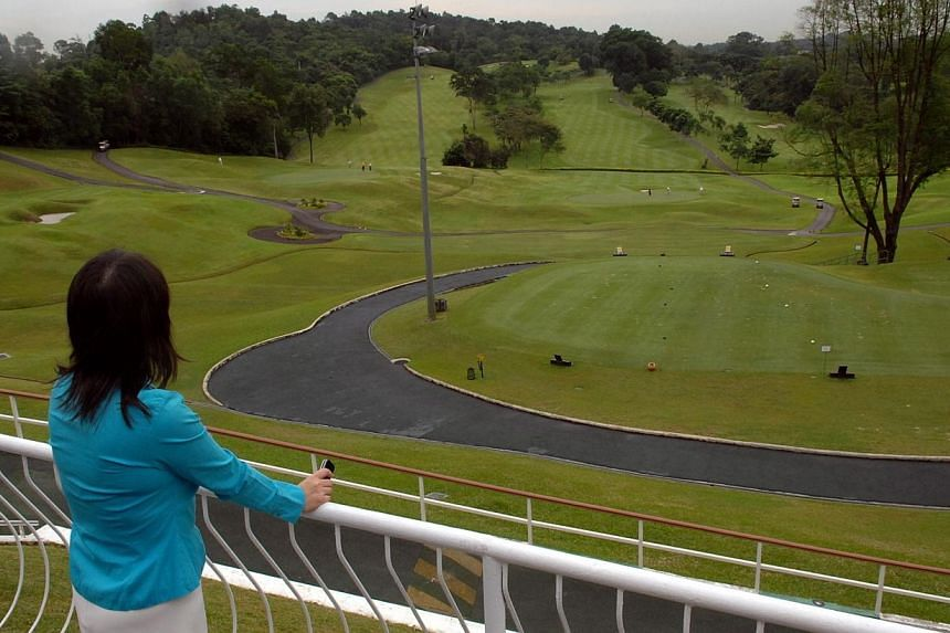 A view of the golf course from the Singapore Island Country Club (SICC) clubhouse.Speculation is mounting that Keppel Club and SICC are likely to be the most affected of the 11 private golf clubs when details are released on Feb 16 on whether t