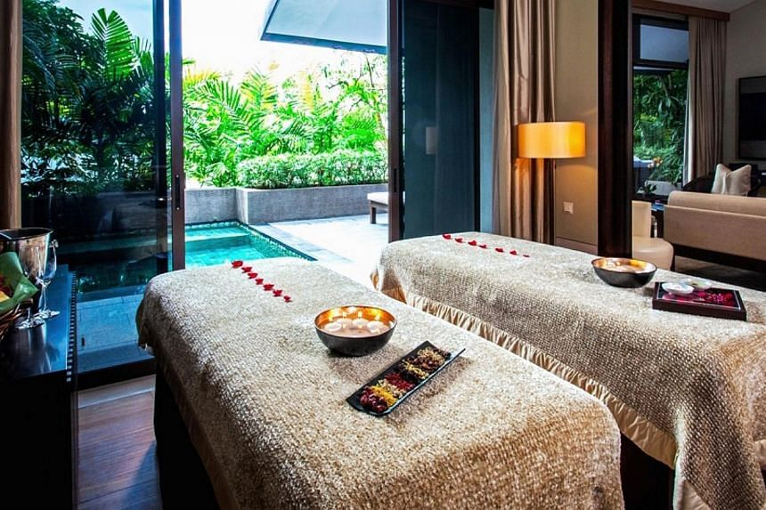 The exclusive Capella Resort's Be My Valentine: Moonlight Sonata package - it is only available for seven couples - comes with an in-villa spa treatment, a champagne breakfast and a photoshoot. -- PHOTO: CAPELLA RESORT, SINGAPORE