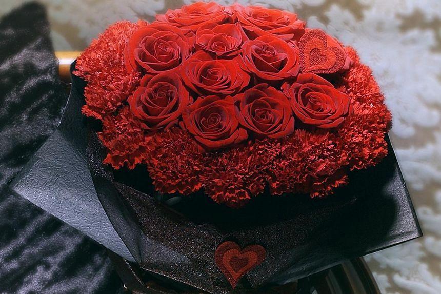 Rose bouquet Scarlette from Fareastflora.com, a retailer that has seen an increase in online flower sales. -- PHOTO: FAREASTFLORA.COM