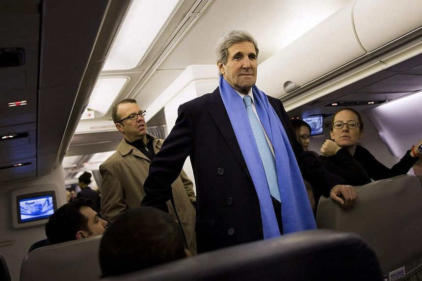 US Secretary of State John Kerry headed to Seoul on Thursday for discussions on North Korea's nuclear programme, a day after high-level inter-Korean talks failed to resolve a row over looming South Korea-US military drills. -- PHOTO: REUTERS