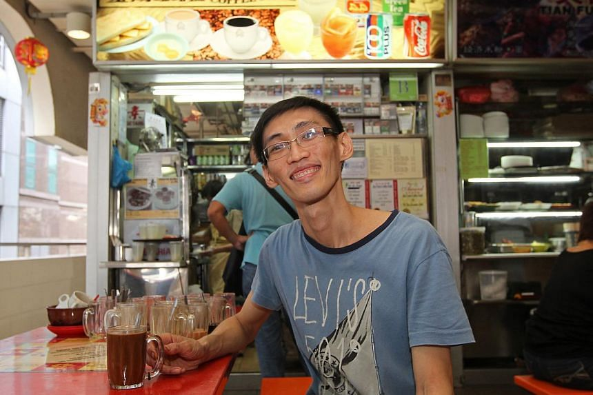 Mr Darren Tay, 38 (above), owner of Jin Chen Coffee Stall at Golden Shoe Market, raised his prices by 10 cents in October, after his suppliers started charging him more for coffee powder and condensed milk. -- ST PHOTO: SEAH KWANG PENG