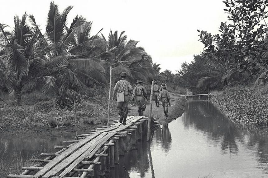 Security forces captured five of a group of 14 Indonesian infiltrators who landed at Ulu Sungei Belukang Kechil, near Pontian Kechil, in 1965. Indonesia waged a Konfrontasi from 1963 to 1966 against the Federation of Malaysia, which included Singapor