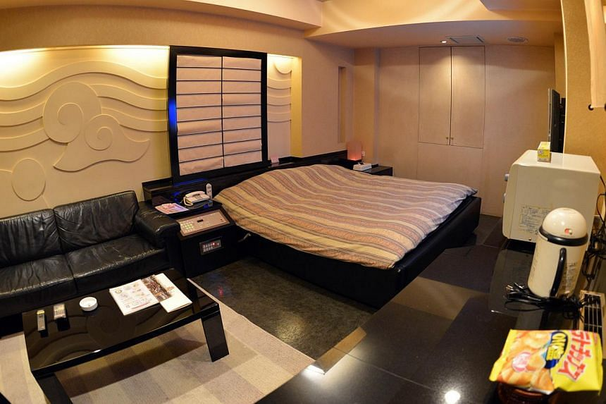 A room of a love hotel called The Rock Kowloon Walled City in Iruma, suburban Tokyo, on Feb 5, 2014. -- FILE PHOTO: AFP