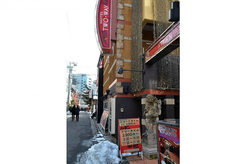 A Japanese love hotel, the Two-Way hotel in Tokyo. -- FILE PHOTO: AFP