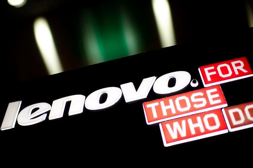 A logo of Chinese computer giant Lenovo is displayed in Hong Kong on Feb 13, 2014.The chairman of Chinese computer giant Lenovo pledged on Thursday, Feb 13, 2014, to make the company the world's third-biggest smartphone seller following an acqu