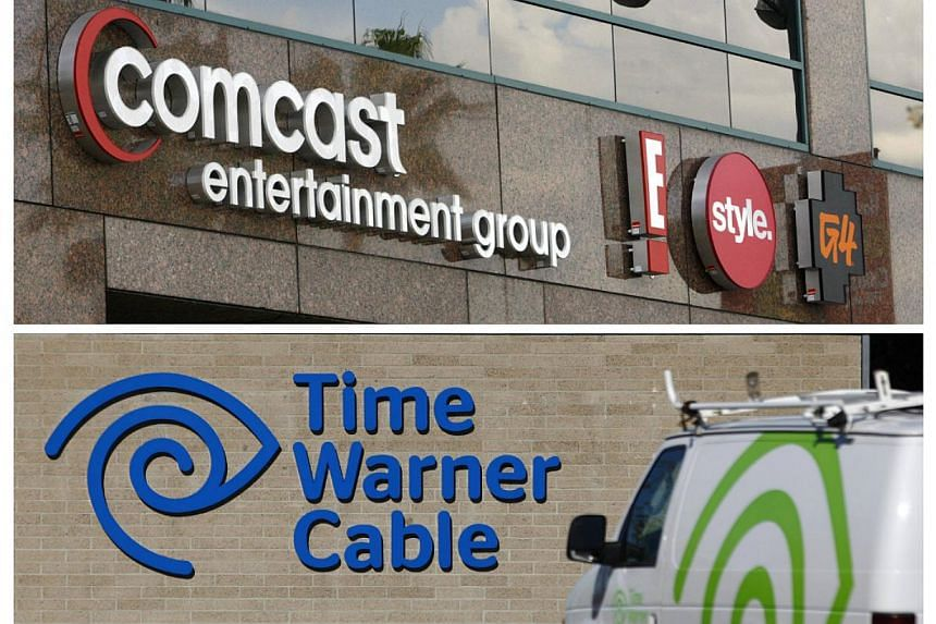 Cable operator Comcast on Thursday, Feb 13, 2014, confirmed it plans to buy Time Warner Cable for about US$45.2 billion (S$57.2 billion) in stock in a deal that would combine the top two US cable TV companies. -- FILE PHOTO: REUTERS