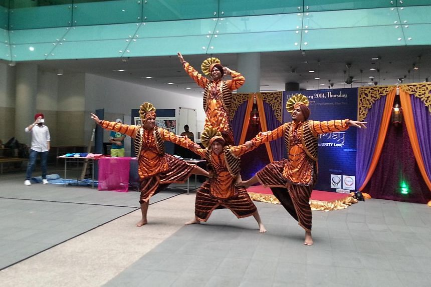 A traditional Sikh dance performance which was part of the inaugural SMU Langar Day - Sharing CommUNITY Love event, which celebrates Sikh culture and tradition. Other activities during the three hour event incuded a turban tying booth and distributio