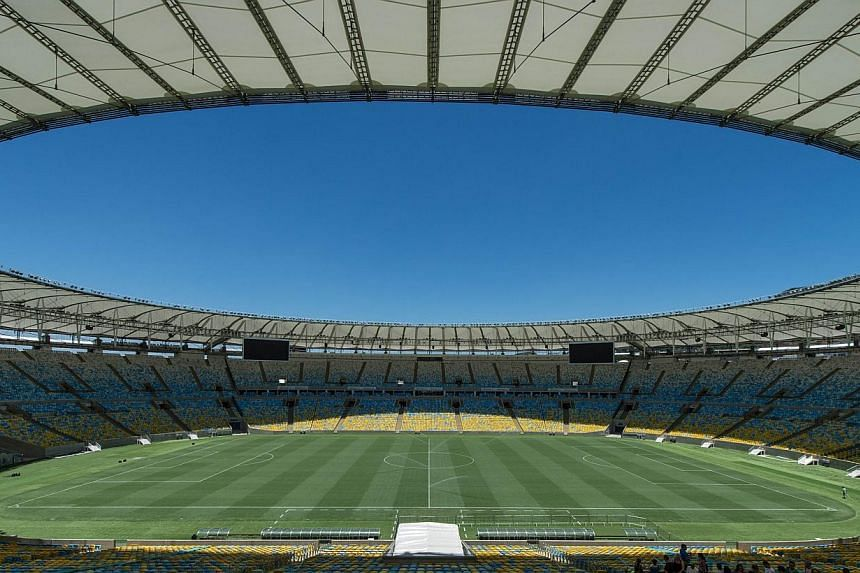 The Maracana Stadium in Brazil. The World Cup final will be played there. -- PHOTO: AGENCE FRANCE-PRESSE