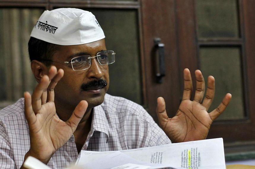 Delhi's firebrand Chief Minister Arvind Kejriwal threatened to quit on Friday, Feb 14, 2014, after fewer than 50 days in office as leader of the Indian capital, after moves to bring in anti-corruption legislation were blocked. -- FILE PHOTO: REUTERS