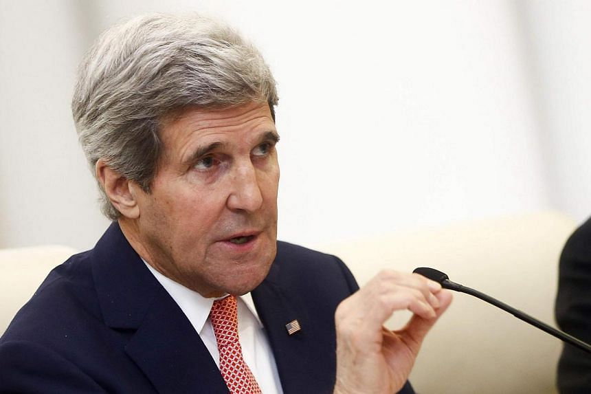 """US Secretary of State John Kerry on Friday, Feb 14, 2014, urged that any moves by Beijing to establish a new air defence identification zone be """"done in an open, transparent way"""".-- PHOTO: REUTERS"""