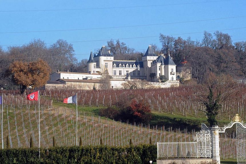 The Bordeaux chateau estate of La Riviere on Dec 23, 2013. A body was discovered on the banks of the river into which Mr Lam Kok, a Chinese tycoon, crashed his helicopter as he toured his newly-acquired Bordeaux wine estate in December. -- FILE PHOTO