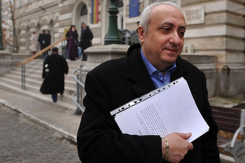 Ionescu, seen here in 2011, was arrested the day after the court gave its decision. -- PHOTO: AGENCE FRANCE-PRESSE