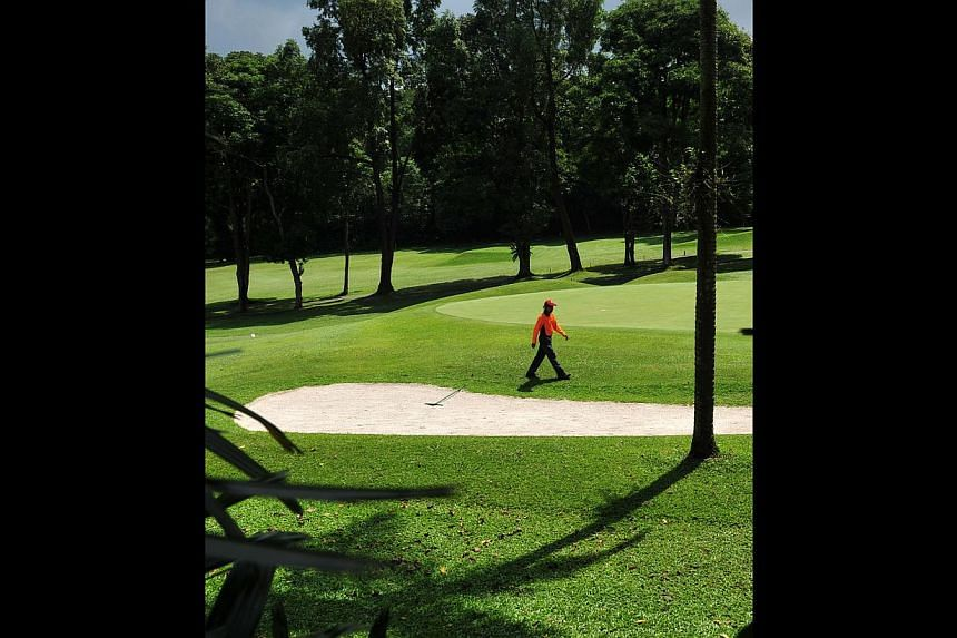 SICC members seem to be especially concerned about the possible loss of at least one of the club's two courses at this Bukit location. -- ST PHOTO: ALPHONSUS CHERN
