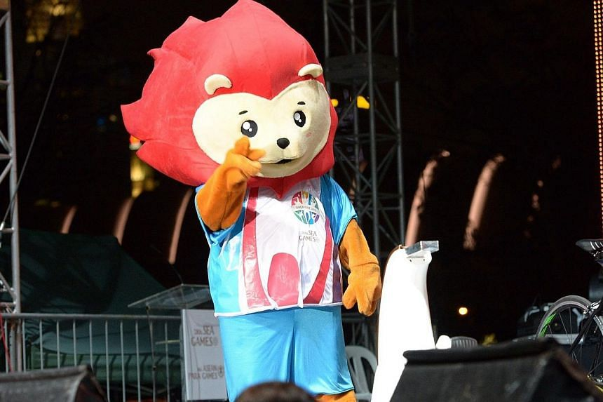 Nila, the official mascot for the 2015 SEA Games and 8th Asean Para Games.-- ST PHOTO: DESMOND WEE