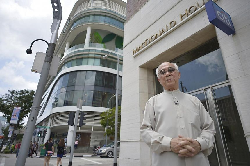 Rev Yeo, now 72, at MacDonald House. It took him some years before he was able to walk past MacDonald House without fear. -- PHOTO: COURTESY OF REVEREND YEO SUAN KIM