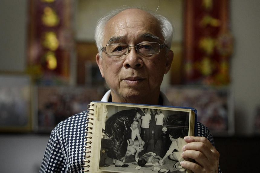 THE DAY PASTOR LOST AN EYE: He has kept the picture all these years, showing him in agony on the ground. Retired pastor Yeo Suan Kim, 72, survived the MacDonald House bombing in March 1965, but lost his right eye. He recalls that terrible afternoon,