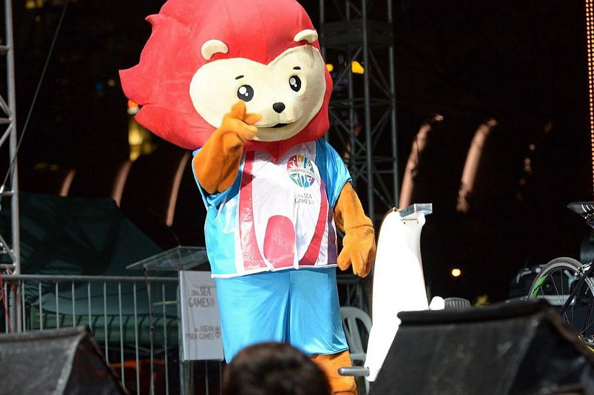 Meet Nila, the mascot for the Games, which Singapore is hosting. -- ST PHOTOS: DESMOND WEE