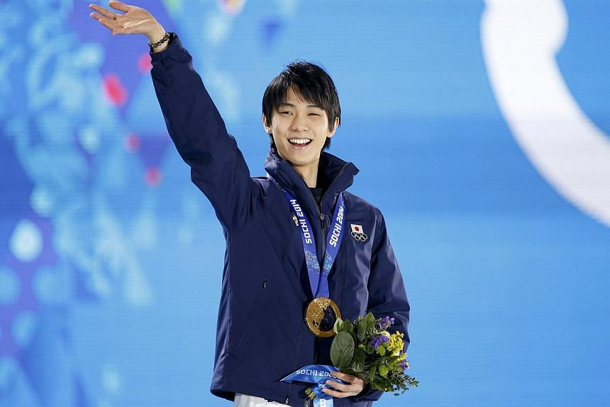 Gold medallist Yuzuru Hanyu not only claimed Japan's first title of the 2014 Winter Games on Friday night, Feb 15, 2014, but their first ever men's title in figure skating ahead of the favourite Patrick Chan of Canada.. -- PHOTO: REUTERS