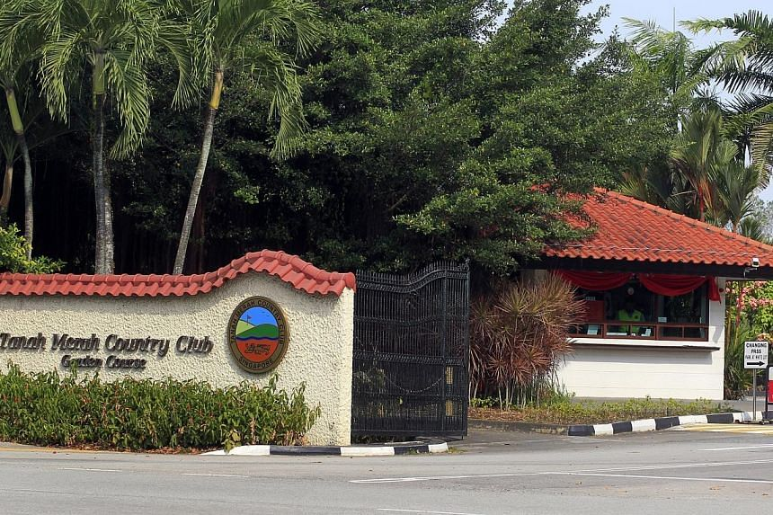 A part of the Tanah Merah Country Club (TMCC) will be acquired by the Government to build new taxiways as part of Changi Airport's expansion plans. -- ST FILE PHOTO: CHEW SENG KIM