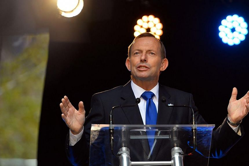 """Australian Prime Minister Tony Abbott said on Sunday, Feb 16, 2014, his government used intelligence material """"for the benefit of our friends"""" and """"to uphold our values"""" following fresh reports it spied on Indonesia.-- FILE PHOTO: AFP"""