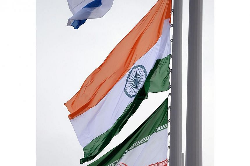 The Indian flag flies in the Olympic park during the Sochi Winter Olympics on Sunday, Feb 16, 2014.The Indian flag was raised at the Sochi Winter Games on Sunday in a symbol of the country's return to the Olympic fold after the lifting of a ban
