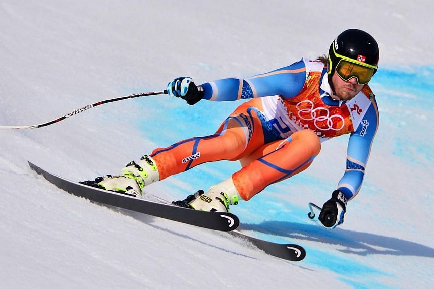 Norway's Kjetil Jansrud competes during the Men's Alpine Skiing Super-G at the Rosa Khutor Alpine Centre during the Sochi Winter Olympics, on Sunday, Feb 16, 2014. -- PHOTO: AFP