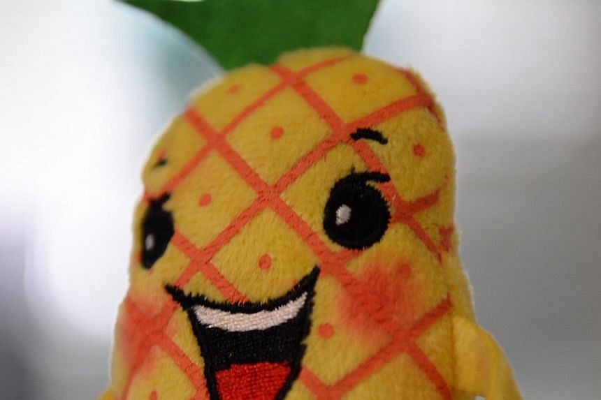 "A keychain of Sembawang GRC mascot Mr ""Semba Wang"". -- ST PHOTO:JOYCE FANG"