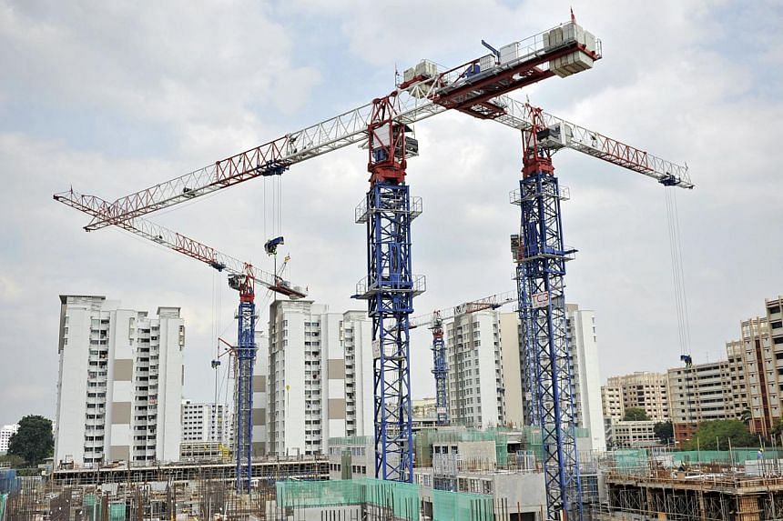 The Manpower Ministry (MOM) said on Monday, Feb 17, 2014, that it will step up safety enforcement measures on several fronts, in the wake of a spike in construction site deaths. -- ST FILE PHOTO:MATTHIAS HO