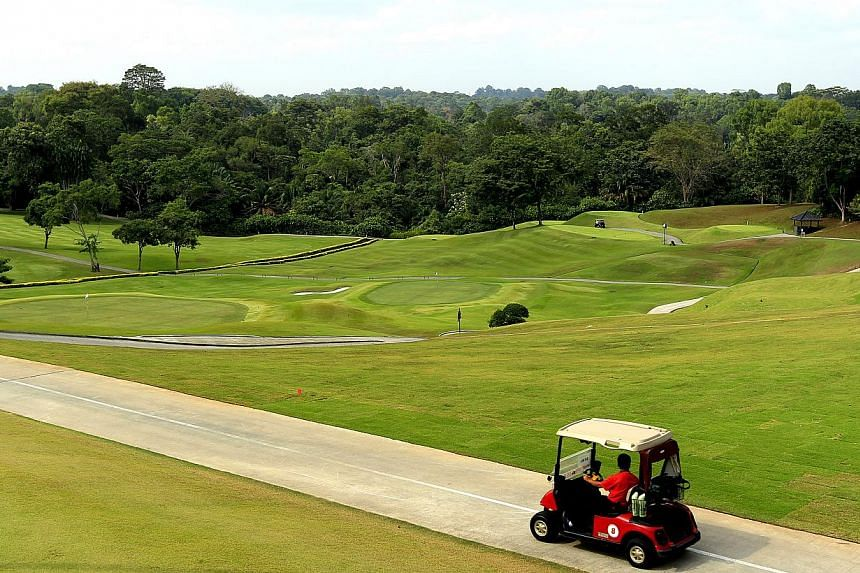 Golf club brokers say their phones have been ringing off the hook, a day after the Government announced its decision on the fate of nine golf clubs in Singapore. -- ST FILE PHOTO:CHEW SENG KIM