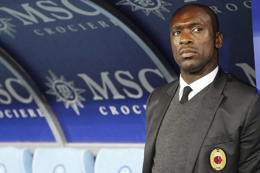 AC Milan coach Clarence Seedorf expects a formidable challenge from on-form Atletico Madrid on their visit to the San Siro for the first leg of their Champions League last 16 tie on Feb 19, 2014. -- FILE PHOTO: AFP