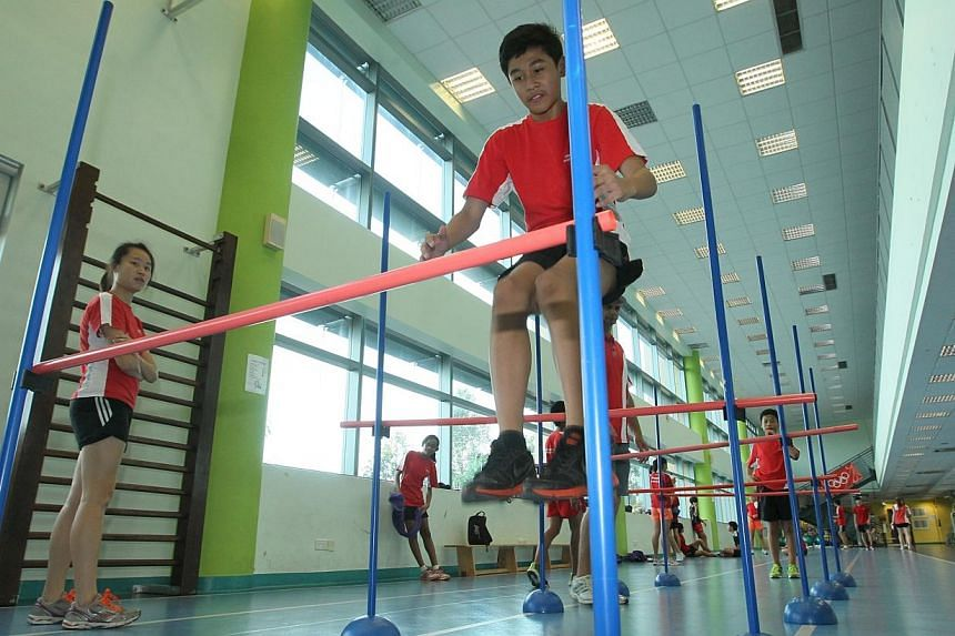 The curriculum for Singapore Sports School students makes it hard for them to excel internationally, and this realisation prompted a recently-announced strategic review into the school's future direction. -- TNP FILE PHOTO: KELVIN CHNG