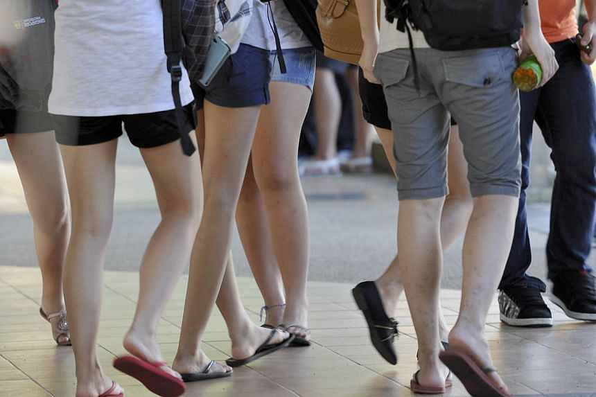 Young people in Singapore are optimistic about their future, a new survey has found. -- ST FILE PHOTO:NURIA LING