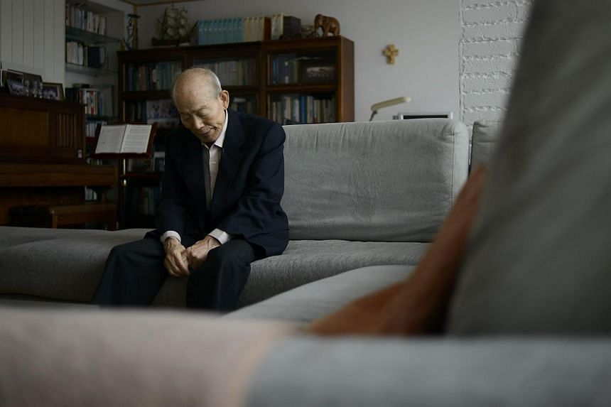 Mr Kim Se Rin sits in his home on the outskirts of Seoul on Feb 17, 2014, ahead of a meeting with relatives in the North. -- FILE PHOTO: AFP