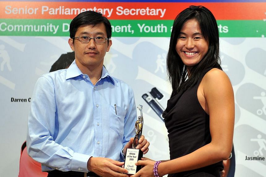 2009: Quah Ting Wen, swimmingWhy she won:- Five golds at SEA Games in Vientiane, Laos.- Four golds at Asian Youth Games in Singapore.- Set 14 national records in 2009.-- ST FILE PHOTO:JOYCE FANG
