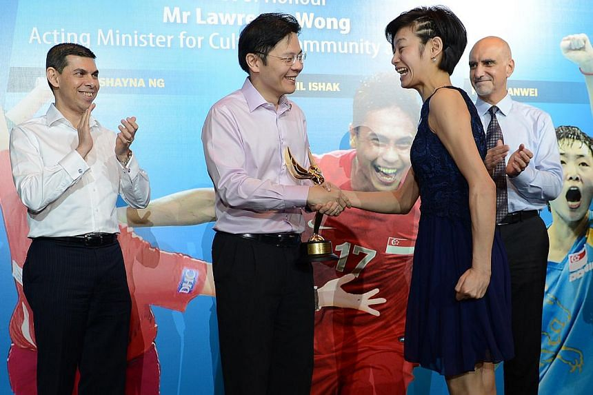 2012: Laurentia Tan, equestrianWhy she won:- Won one silver and one bronze at the London Paralympics.- Singapore's most bemedalled Paralympian with one silver and three bronzes (two in Beijing 2008).-- ST FILE PHOTO:JOYCE FANG