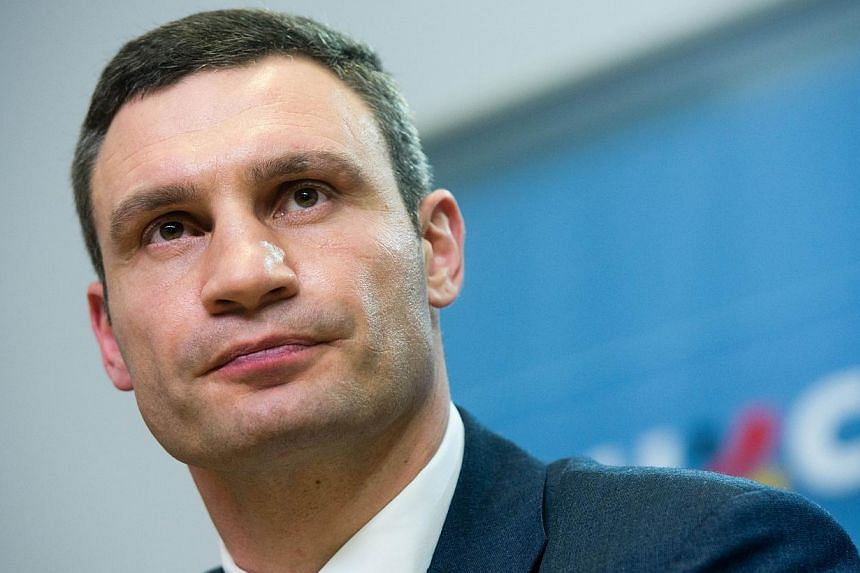 Ukraine opposition leader Vitali Klitschko addresses a press conference in Berlin on Feb 17, 2014 after a meeting with the German Chancellor to discuss the country's crisis. Ukrainian opposition leader Vitali Klitschko has arrived at President Viktor
