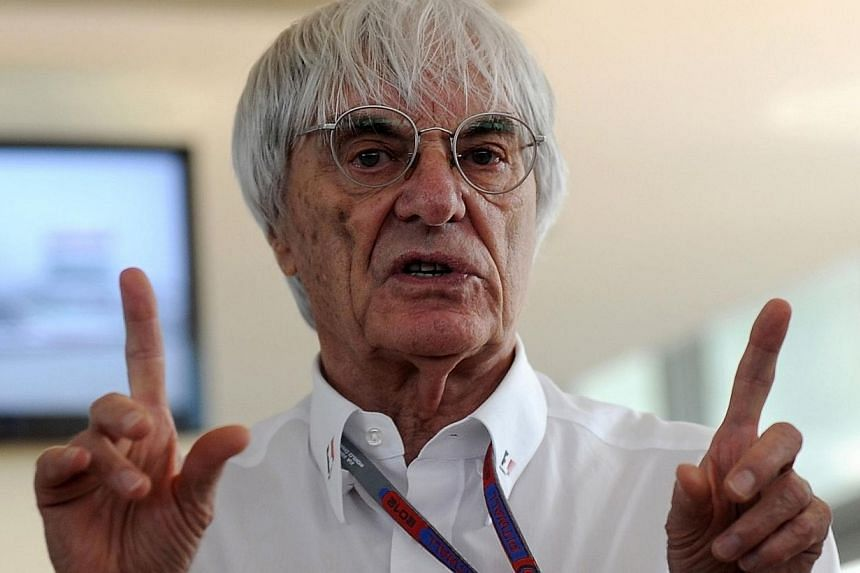 """Formula One chief Bernie Ecclestone prior to the Formula One Indian Grand Prix 2012 onOct 28, 2012.A British judge found on Thursday, Feb 20, 2014, that Ecclestone had paid bribes to a German banker as part of a """"corrupt agreement"""" linked"""