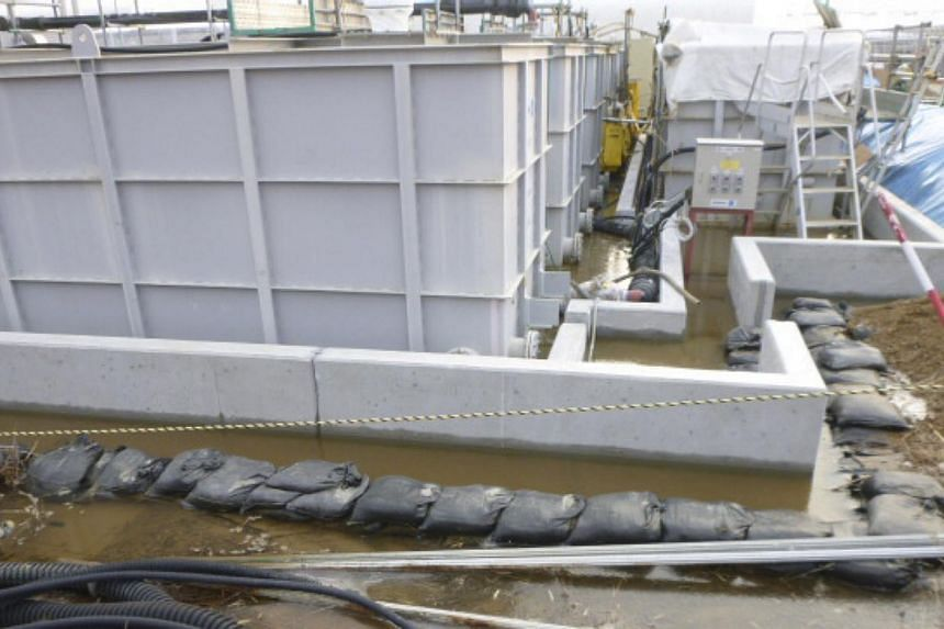 Highly contaminated water leaked from a large storage tank is seen at the H6 area of the contaminated water storage tanks, at Tokyo Electric Power Co.A new leak of 100 tonnes of highly radioactive water has been discovered at Fukushima, the pla
