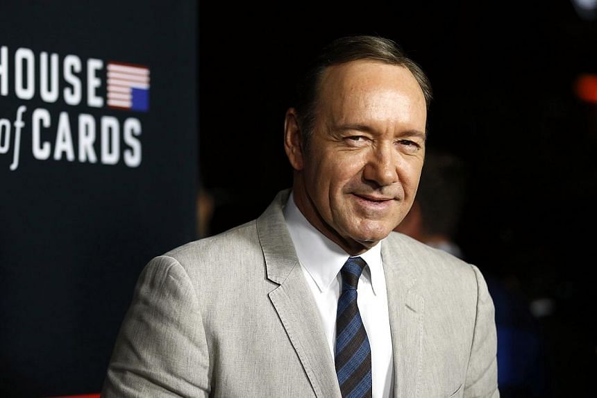 """Cast member Kevin Spacey poses at the premiere for the second season of the television series """"House of Cards"""" at the Directors Guild of America in Los Angeles, California on February 13, 2014. The Netflix drama have made it the top American show str"""