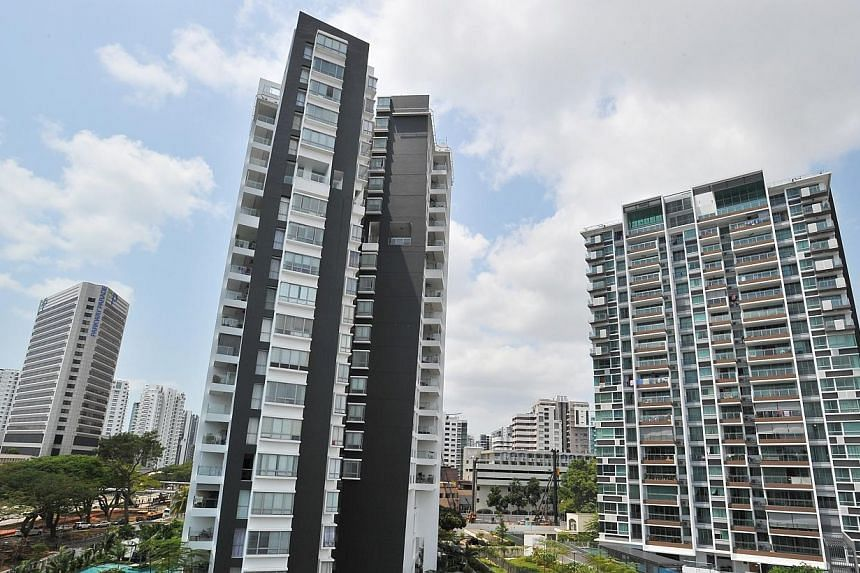 The Government will continue to monitor the real estate market and adjust its measures when necessary, Deputy Prime Minister and Finance Minister Tharman Shanmugaratnam said in his Budget speech. -- PHOTO: LIM YAOHUI FOR THE STRAITS TIMES