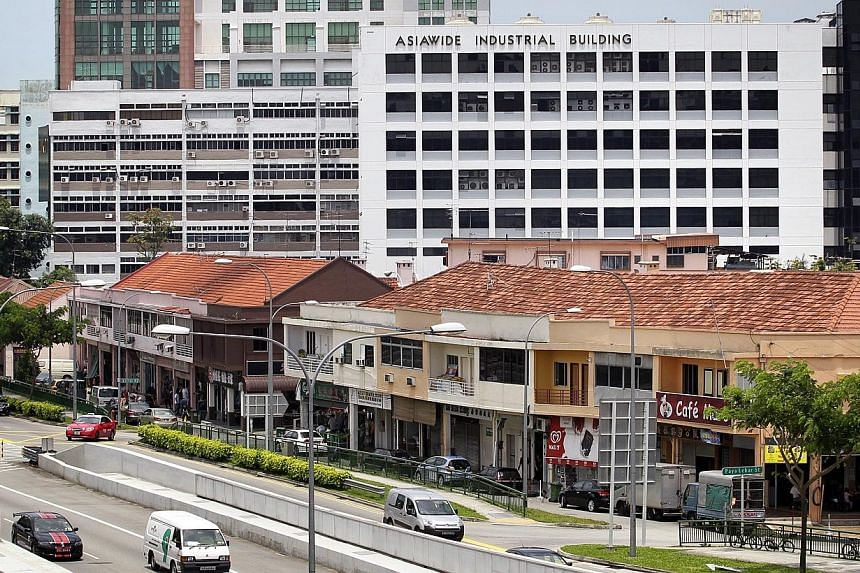 Shophouses along Upper Paya Lebar Road on April 20, 2012. The popular Productivity and Innovation Credit (PIC), which gives firms tax deductions or cash grants when they invest to boost their capabilities, will be extended and broadened, said Finance