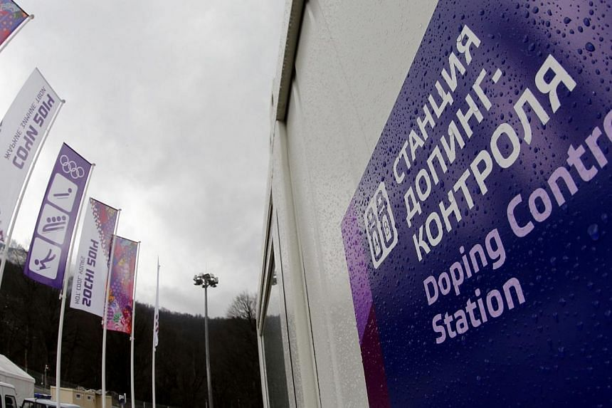 The Doping Control Station is pictured at the Sanki Sliding Center in Rosa Khutor, during the Sochi 2014 Winter Olympics near Sochi, on Friday, Feb 21, 2014. An unnamed German athlete has returned an abnormal doping sample at the Sochi Winter Ga